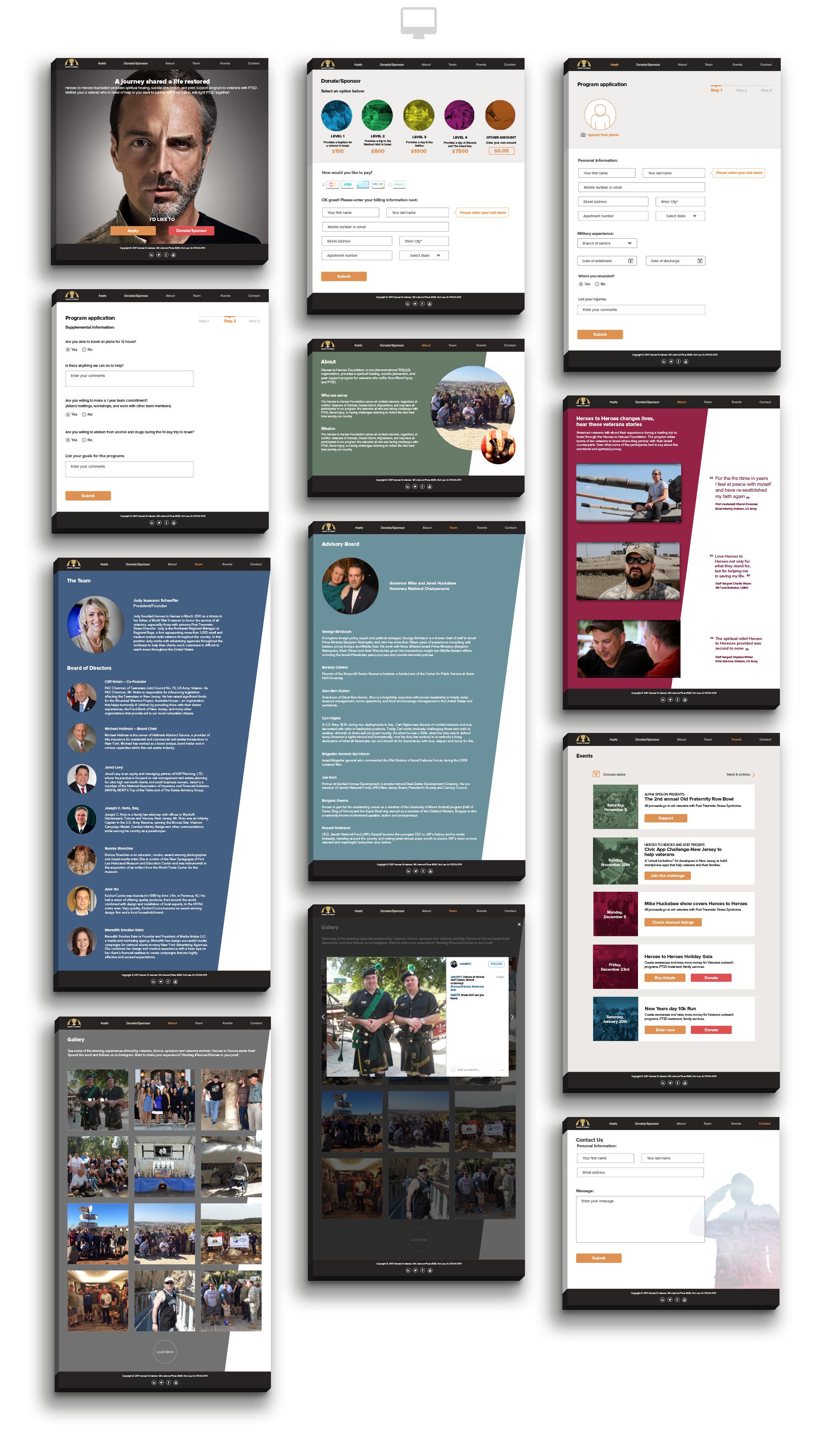 Heroes to Heroes desktop